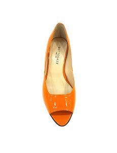 Marilyn, Italian Handmade Comfortable Patent Leather Open Toe 1.5-inch Heel Shoes