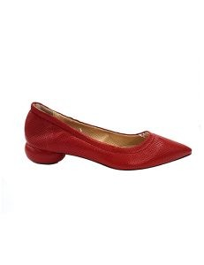 Marilyn, Italian Handmade Stretch Texture Leather Comfortable Flat 1-inch Heel Shoes