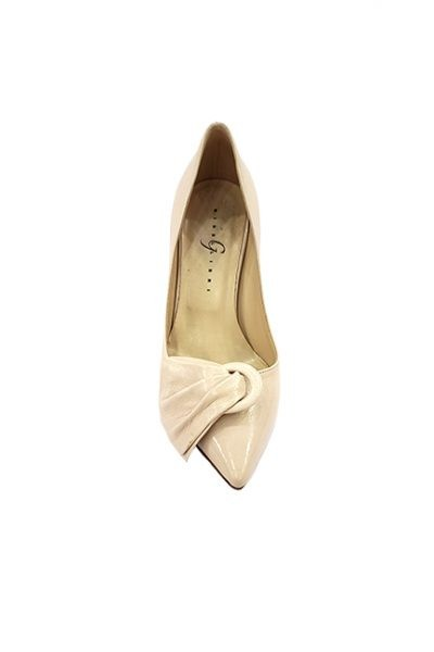 Marilyn, Italian Handmade Nude Leather with, Detail Across the Toe 3-inch Heel Shoes