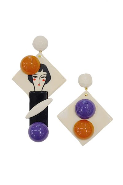 Marilyn Handmade Italian Fun Resin Pierced Earrings