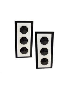 Marilyn Italian Made Three Dots on Rectangle, Resin Clip and Earrings