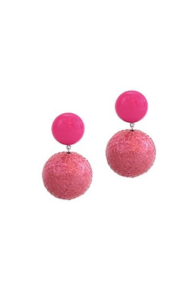 Marilyn French Colorful Ball Resin Clip Earrings