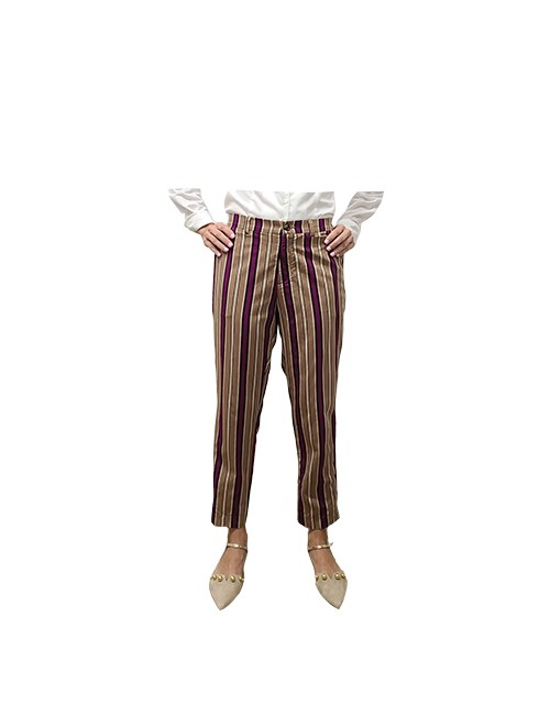 Marilyn Italian Made Soft Viscose Original Print Stripe Pant