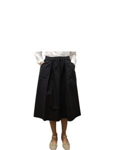 Marilyn Italian Made Cotton stretch, Skirt with Side pockets and stretch waist band