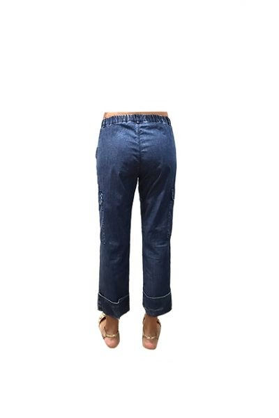 Marilyn Italian Made Soft Cotton stretch Denim cropped Pant