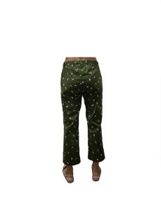 Marilyn Italian Made Cotton stretch Original Print cropped Pant