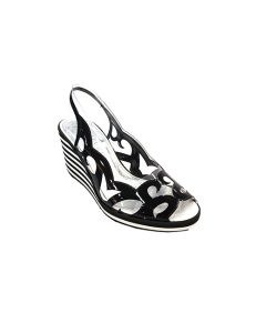 Marilyn French handcrafted Comfortable, Clear, Patent, 0.5-inch, Platform Wedge 2.5-inch Heel