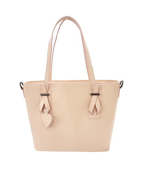 Marilyn Italian Handcrafted Calf Leather Handbags Zipper Closure at Top, Cross Body Strap included, 3 Pockets inside one zipper closed pocket