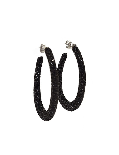 Pierced Earrings metal base, composed of Magnesium-AL, lightweight earrings,oxidation-free,naturally hypoallergenic, black