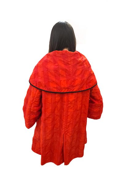 Marilyn Sicilian Cape Style Jacket Unique Fabric Large Drape Collar