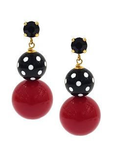 These Earrings are beads and elements in true Italy, craft, and contemporary modern statement pieces from scratch