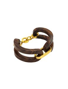 Marilyn Handmade Wooden Rosewood with Silver plate or 18ct Gold Plate Link and Chain Bracelet