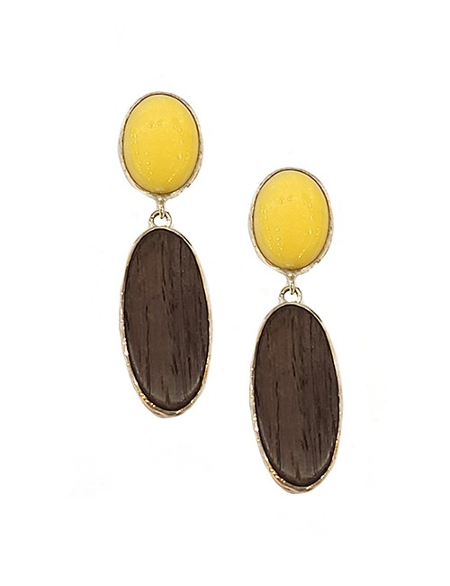 Marilyn Wood semi-precious stone Silver Plated Drop Earrings