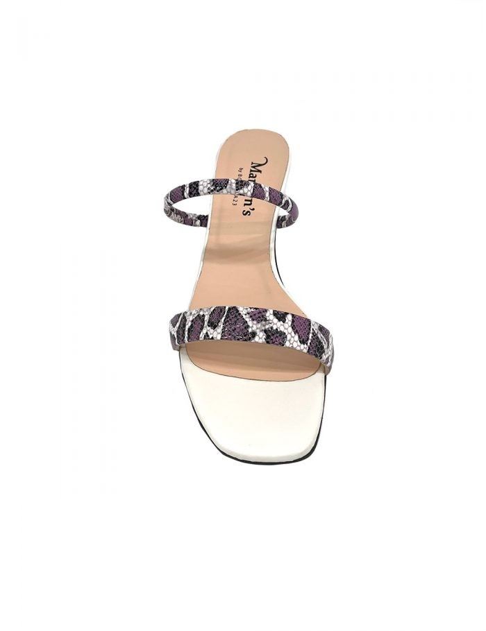 Marilyn's Leather Animal Print Strappy Mule Shoes