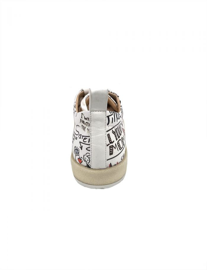 Marilyn's Luxury Leather Print Tennis Shoes