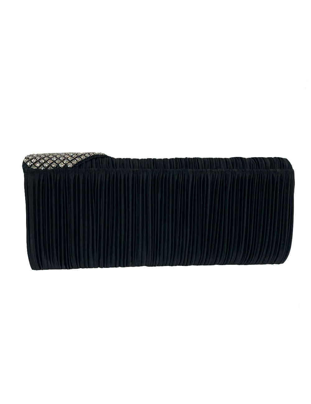 Marilyn's Crystal and Corrugated Fabric Clutch Bag