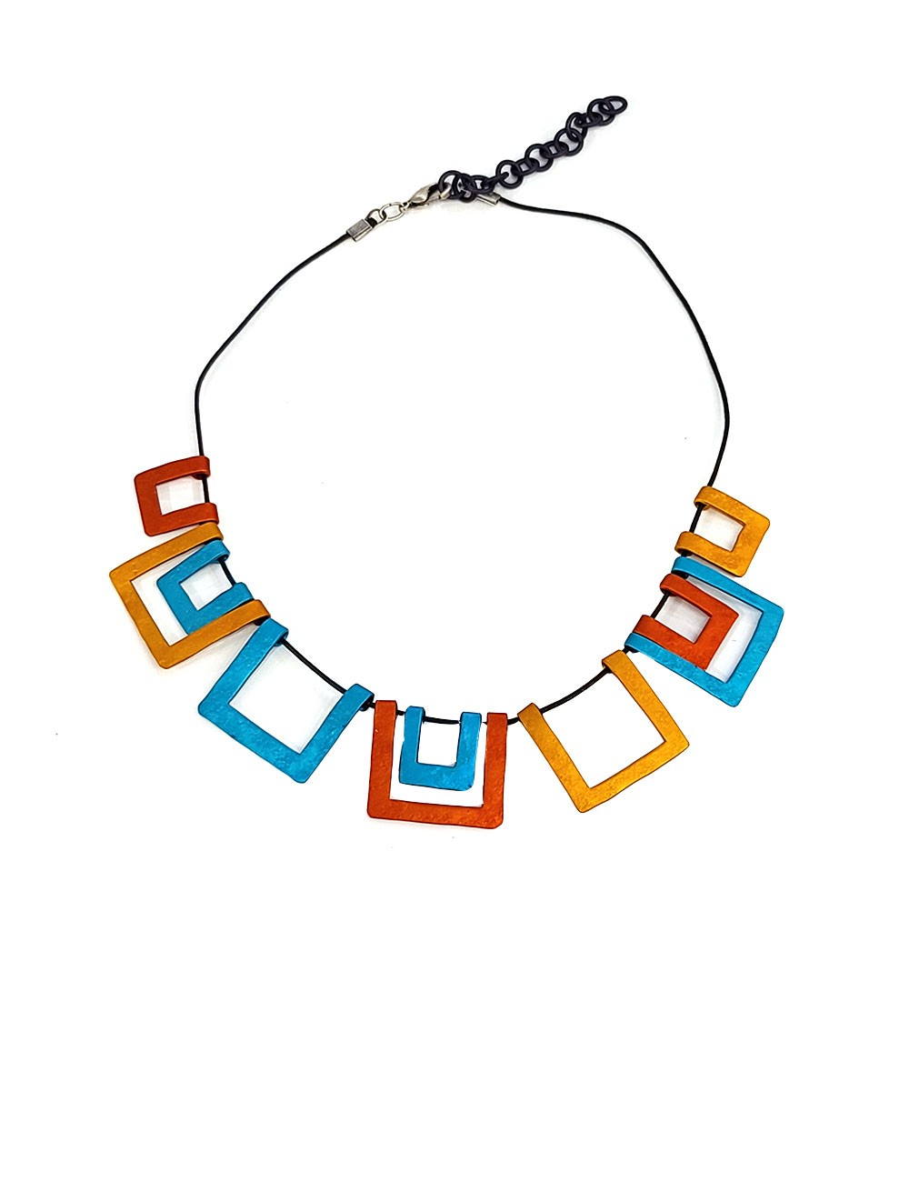 Marilyn's Spanish Aluminum Squared Necklace CO183