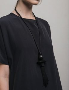 Marilyn's Spanish Stone and Silk Necklace CL3