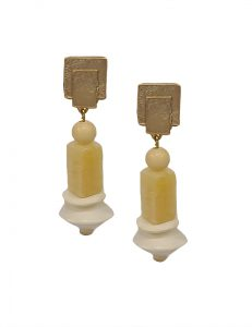 Marilyn's Spanish Bead and Stone Earrings ME6A